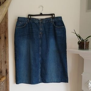 Tommy Hilfiger button fly jeans skirt 20